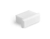 ESL • Embout plein blanc pour profilé gamme Micro-eclairage-archi--museo-