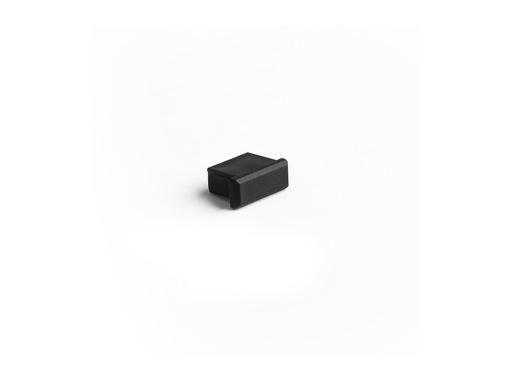 ESL • Embout plein noir pour profilé gamme Micro