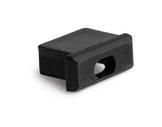 ESL • Embout passage de câble noir pour profilé gamme Micro-eclairage-archi--museo-