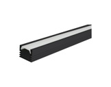 ESL • Profil alu noir PDS4 pour Led 2.00m + diffuseur opaline-profiles-et-accessoires-led-strip