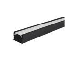 ESL • Profil alu noir PDS4 pour Led 3.00m + diffuseur opaline-profiles-et-accessoires-led-strip