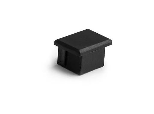 ESL • Embout plein noir pour profilé gamme PDS4