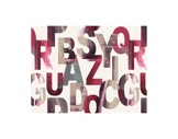 MOQUETTE IMPRIMEE • Alphabet - Rouleau de 1,5 m x 30 ml soit 45 m2 Bfl-S1-imprimee