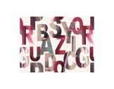 MOQUETTE IMPRIMEE • Alphabet - Rouleau de 1,5 m x 30 ml soit 45 m2 Bfl-S1-textile