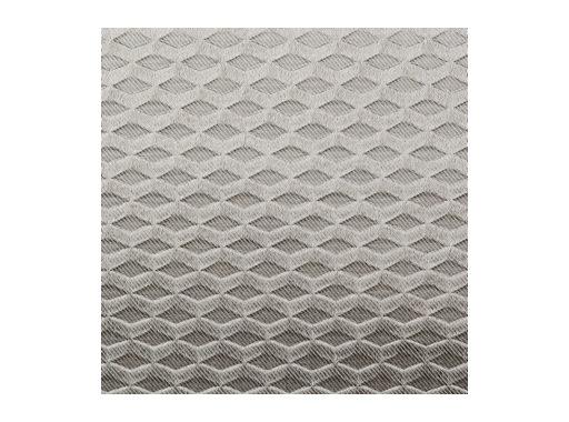 TOILE OBSCUR. SATIN METAL GAUFRE • Argent - largeur 150 cm - 256 g/m2 PES FR M1