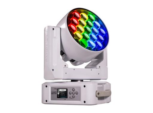 PROLIGHTS • Lyre Wash asservie Diamond19 Full RGBW 19x15 W, zoom 6-66° blanche