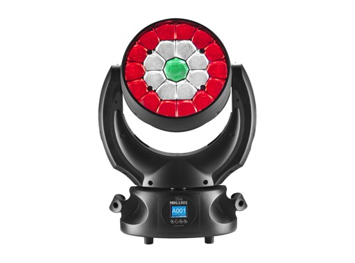 Lyre asservie wash LED matricée NICK NRG 1401 DTS Full RGBW FPR