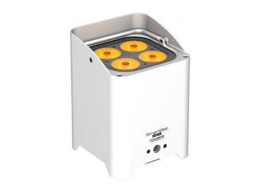PROLIGHTS TRIBE • Projecteur sur batterie SMARTBATHEX 4x10 W Full RGBAWUV blanc