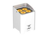 PROLIGHTS • Projecteur sur batterie blanc SMARTBATHEX 4x10 W Full RGBAWUV blanc-eclairage-spectacle