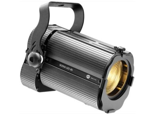 Projecteur Fresnel LED compact noir DTS SCENA LED