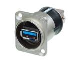 NEUTRIK • Traversée de panneau USB3 A/B serie D nickel-neutrik