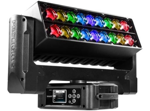 PROLIGHTS • Lyre Wash asservie AIR18Z Full RGBW 18x15 W, double zoom 6-66°