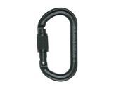 PETZL • Mousqueton OK Screw-Lock noir, verrouillage manuel à vis-mousquetons