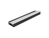 ESL • Profil alu anodisé noir Micro pour Led 1.00m + diffuseur opaline-eclairage-archi--museo-