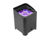 PROLIGHTS TRIBE • Projecteur sur batterie noir SMARTBATHEX 4x10 W Full RGBAWUV-eclairage-spectacle