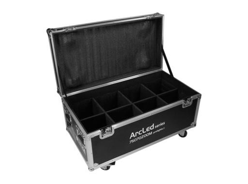 PROLIGHTS • Flightcase pour 8 projecteurs ARCLED7507