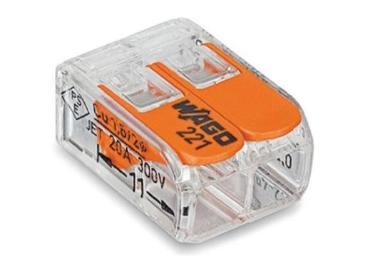 WAGO • Paquet de 100 bornes de connexion sans outils 2 X 0,08 à 4mm2 souple