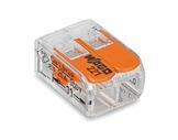 WAGO • Paquet de 100 bornes de connexion sans outils 2 X 0,08 à 4mm2 souple-barettes-de-connexion-wago