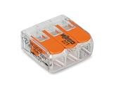 WAGO • Paquet de 50 bornes de connexion sans outils 3 X 0,08 à 4mm2 souple-barettes-de-connexion-wago