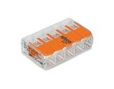 WAGO • Paquet de 25 bornes de connexion sans outils 5 X 0,08 à 4mm2 souple-barettes-de-connexion-wago