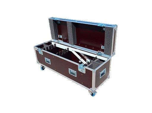 INNLED • Flightcase 6 têtes + 6 tubes ≤1,26m + 6 embases et 2 embases batteries