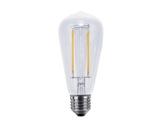 Lampe LED Vintage ST64 claire 6W 230V E27 2600K 470lm IRC90 gradable • SEGULA-lampes-led