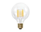 Lampe LED Vintage globe claire 6W 230V E27 2200K 550lm IRC90 gradable • SEGULA-lampes-led