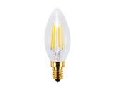 Lampe LED Vintage flamme claire 4W 230V E14 2200K 320lm IRC90 gradable • SEGULA-lampes-led