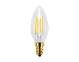 SEGULA • LED Vintage flamme claire 4W 230V E14 2200K 320lm IRC=90 gradable