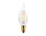 SEGULA • LED Vintage flamme claire coup de vent 4W 230V E14 2200K 200lm IRC=90