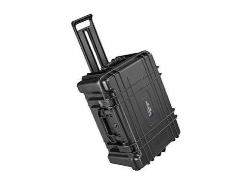 OC • Valise étanche 535 x 360 x 225 mm int mousse, roues + trolley 43L