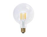 Lampe LED Vintage globe claire 6W 230V E27 2600K 470lm IRC90 gradable • SEGULA-lampes-led