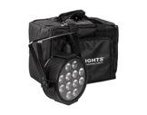 PROLIGHTS • Pack de 4 projecteur LEDs LUMIPAR12UQ + sac + télécom + câbles-eclairage-spectacle