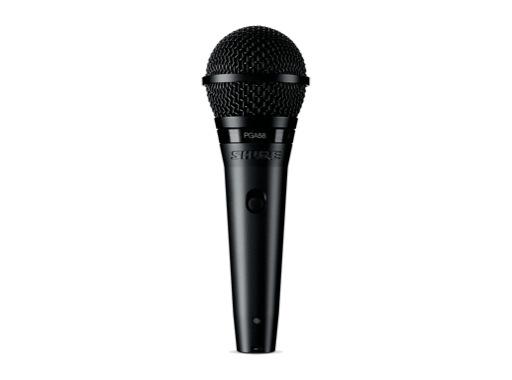 SHURE • Micro voix PGA58 dynamique cardioïde XLR + interrupteur