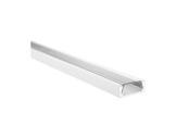 ESL • Profil alu anodisé blanc Micro pour Led 1.00m + diffuseur transparent-eclairage-archi--museo-