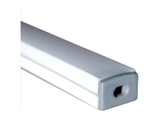 profil aluminium anodis blanc micro pour led diffuseur opaline. Black Bedroom Furniture Sets. Home Design Ideas