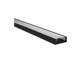 ESL • Profil alu anodisé noir Micro pour Led 1.00m + diffuseur transparent-eclairage-archi--museo-