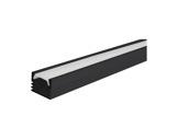 ESL • Profil alu anodisé noir PDS4 pour Led 1.00m + diffuseur opaline-eclairage-archi--museo-