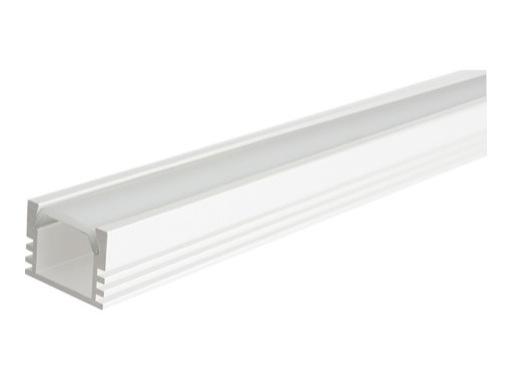 profil aluminium anodis blanc pds4 pour led diffuseur opaline. Black Bedroom Furniture Sets. Home Design Ideas