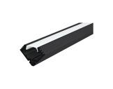 ESL • Profil alu anodisé noir 45 ALU pour Led 1.00m + diffuseur opaline-eclairage-archi--museo-