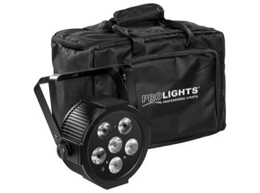 PROLIGHTS • Pack de 4 projecteur LEDs LUMIPAR6UQ + sac + télécom + câbles