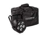 PROLIGHTS TRIBE • Pack de 4 projecteur LEDs LUMIPAR6UQ + sac + télécom + câbles-eclairage-spectacle