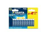 VARTA • Piles alcalines HIGH ENERGY LR03 AAA blister x 12-consommables