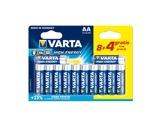 VARTA • Piles alcalines HIGH ENERGY LR06 AA blister x 12-consommables