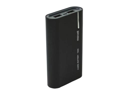 MAXELL • Batterie de secours Storm 7800 noire 2xUSB 7800mAh