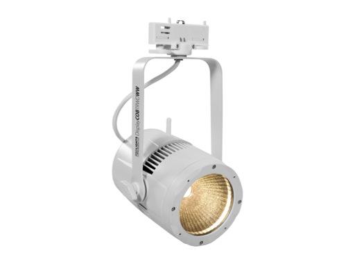 PROLIGHTS • Projecteur LED DISPLAYCOB blanc 3200 K DMX HF sur rail 3 all.