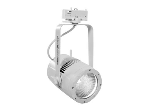 PROLIGHTS • Projecteur LED DISPLAYCOB blanc 5000 K DMX HF sur rail 3 all.