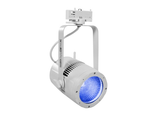 PROLIGHTS • Projecteur LED DISPLAYCOB blanc Full RGB DMX HF sur rail 3 all.