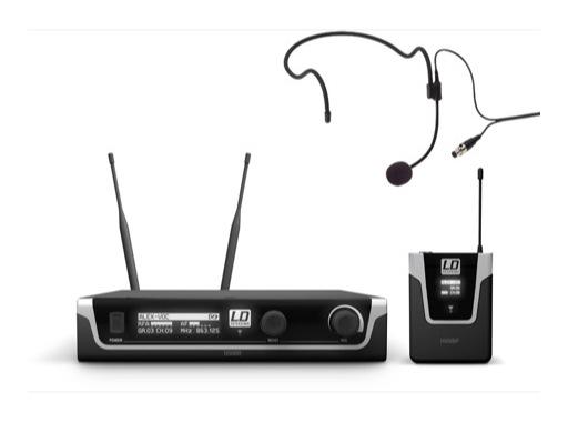 LDS • Système HF micro serre-tête avec émetteur ceinture + récepteur UHF