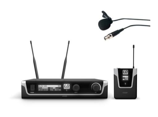 LDS • Système HF micro cravate avec émetteur ceinture + récepteur UHF